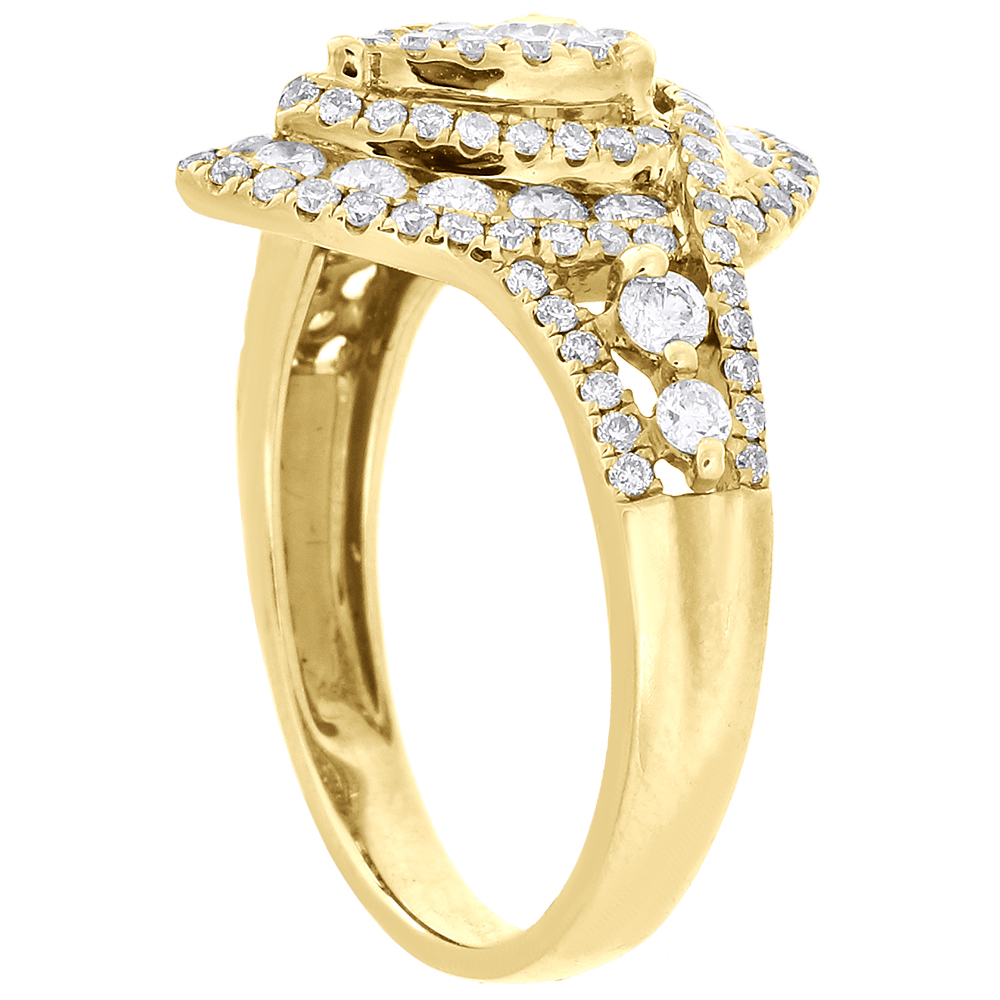 14k yellow gold engagement wedding ring pear