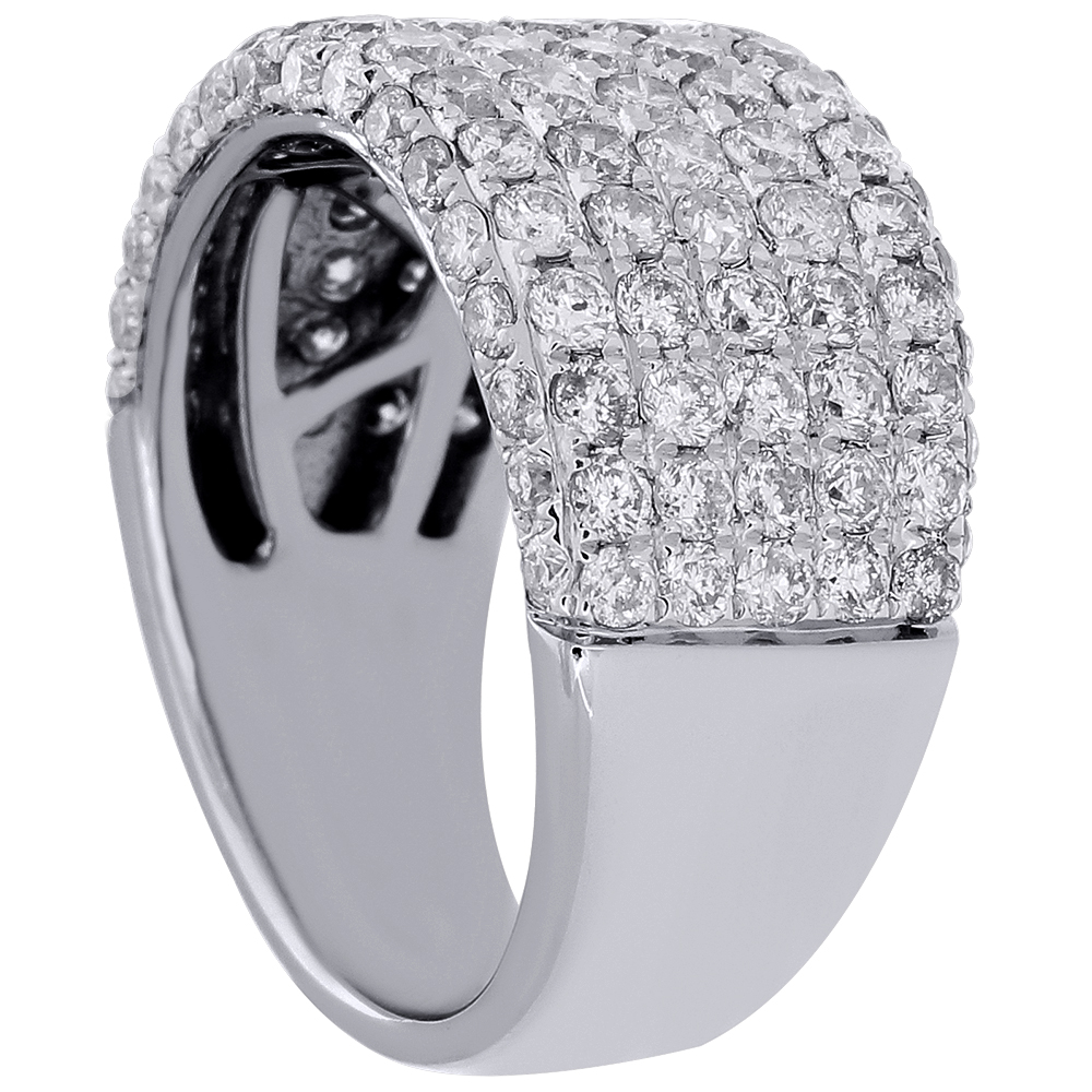 Diamond Engagement Wedding Band 14K White Gold Ladies ...